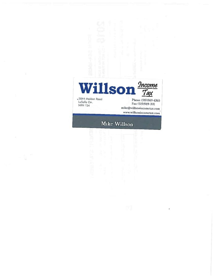 Willson Income Tax